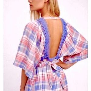 🌺HP🌺🎉NWT Free People Plaid On You Tunic Top